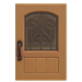 NH-House Customization-maple iron grill door (square)