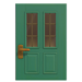 NH-House Customization-cyan vertical-panes door (square)