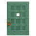 NH-House Customization-green iron door (square)