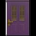 NH-House Customization-purple vertical-panes door (square)