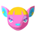 PC-VillagerFace-Fuchsia