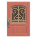 NH-House Customization-pink iron grill door (square)