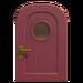 NH-House Customization-burgundy basic door (round)