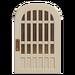 NH-House Customization-white latticework door (round)