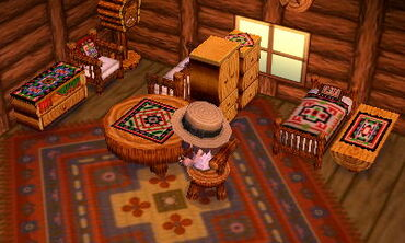 Superb The Cabin Series (ログシリーズ, Rogu Shirīzu, Log) In The Animal Crossing Series  Consists Of Eleven Furniture Items, Plus Matching Wallpaper And Flooring.
