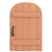 NH-House Customization-pink rustic door (round)