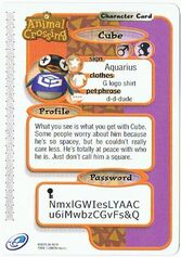 The Back of Cube's E-Reader Card