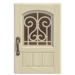 NH-House Customization-white iron grill door (square)