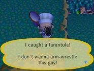 I caught a trantula!