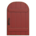 NH-House Customization-red rustic door (round)