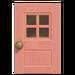 NH-House Customization-pink windowed door (square)