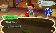 Toy hammer new leaf