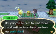 Isabelle Thinks of the Estimated Time