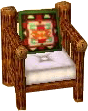 Cabin green armchair