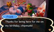 Frank Happy with Birthday Present