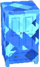 Sapphire blue cabinet