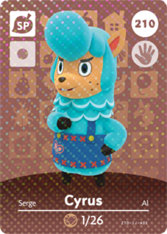 Cyrus | Animal Crossing Wiki | FANDOM powered by Wikia