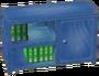 Blue bookcase NL
