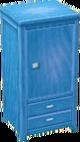 Light blue wardrobe