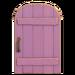 NH-House Customization-pale-purple rustic door (round)