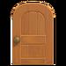 NH-House Customization-maple wooden door (round)
