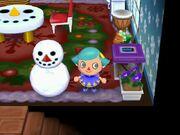 Player snowman