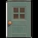 NH-House Customization-gray windowed door (square)