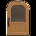 NH-House Customization-maple iron grill door (round)