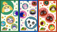 Photos With Animal Crossing Cutout Cards Back
