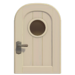 NH-House Customization-white basic door (round)