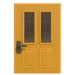 NH-House Customization-yellow vertical-panes door (square)