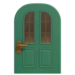NH-House Customization-cyan vertical-panes door (round)