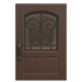 NH-House Customization-dark-brown iron grill door (square)