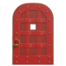 NH-House Customization-red iron door (round)