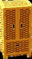 Cabana wardrobe gold