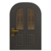 NH-House Customization-black vertical-panes door (round)