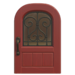 NH-House Customization-red iron grill door (round)