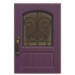 NH-House Customization-purple iron grill door (square)