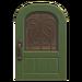 NH-House Customization-green iron grill door (round)