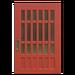 NH-House Customization-red latticework door (square)