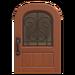 NH-House Customization-iron grill door (round)