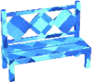 Sapphire blue bench