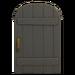 NH-House Customization-black rustic door (round)