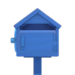 NH-House Customization-blue wooden mailbox