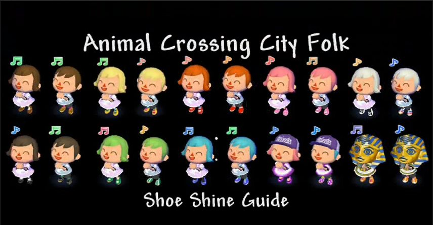 Hairstyle Colors Animal Crossing City Folk