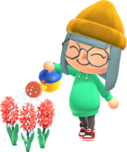 Animal-Crossing-New-Horizons Characters-Watering