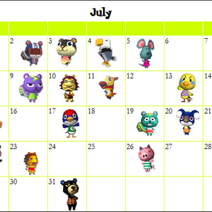 List Of Villagers By Birthday City Folk Animal Crossing Wiki