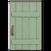 NH-House Customization-light-green rustic door (square)