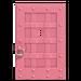 NH-House Customization-pink iron door (square)