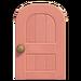 NH-House Customization-pink wooden door (round)